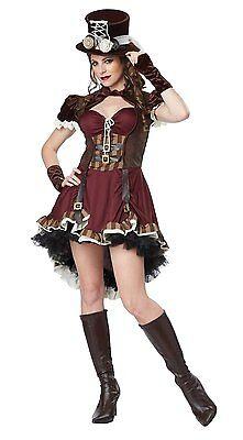 Steampunk Girl Cosplay (ADULT STEAMPUNK GIRL WOMEN BRASS EMO MOVIE GOTH HALLOWEEN COSTUME COSPLAY)