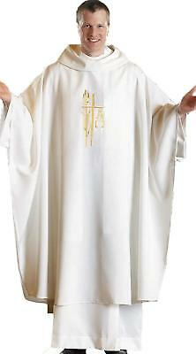Spirit/Hope Monastic Chasuble (White)