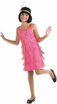 Little Miss Flapper Pink Roaring 20's Girl Fancy Dress Halloween Child Costume](Pink Flapper Girl Costume)