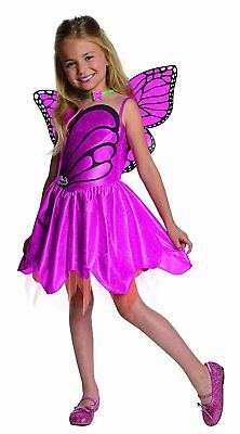 Mariposa Barbie Mariposa Fairy Princess Fancy Dress Up Halloween Child Costume (Dress Up Halloween Barbie)