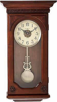 Howard Miller Jasmine Wall Clock 625-384 – Wood & Quartz, Dual-Chime Movement