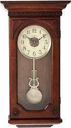 Howard Miller Jasmine Wall Clock 625-384 – Wood & Quartz, Dual-Chime Movement