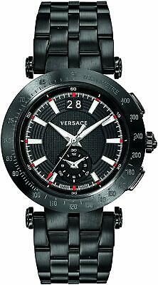 Versace V-Race Sport Swiss Chronograph Automatic Black Men's Watch VAH040016 SD