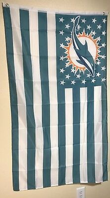 Miami Dolphins Flag (MIAMI DOLPHINS STARS AND STRIPE   FLAG 3x5 FREE FAST SHIPPING!)