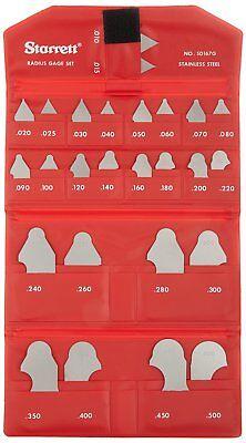 Starrett Sd167gz Radius Gage Set Decimal-inch