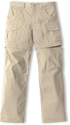 CQR Girls' Hiking Cargo Pants, UPF 50+ Quick Dry Convertible Zip Off Pants