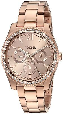 FOSSIL Women's SCARLETTE MULTIFUNCTION ROSE STAINLESS 38MM WATCH  ES4315  NEW!