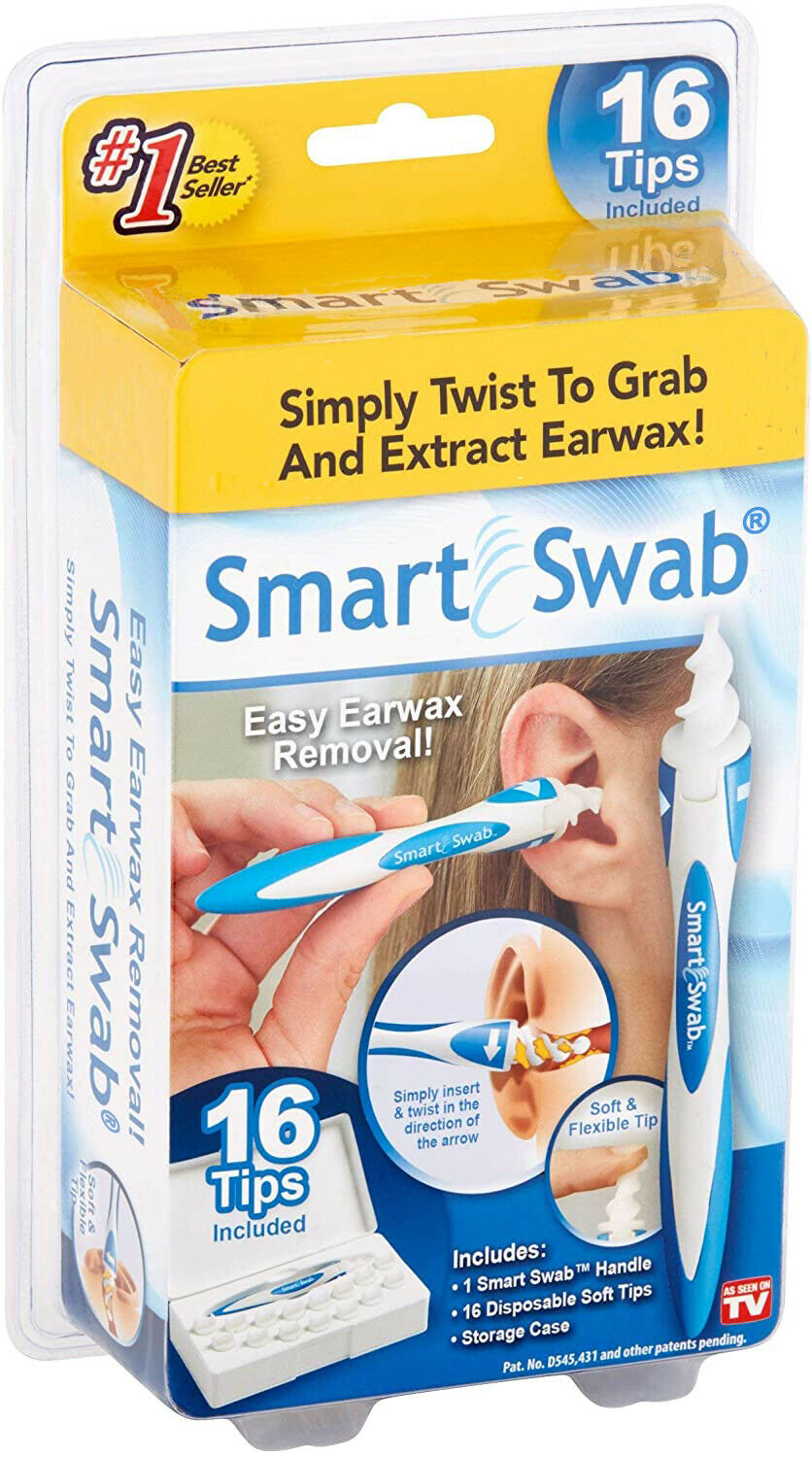 SMART SWAB Spiral Ear Cleaner Easy Ear wax Removal Remover 1