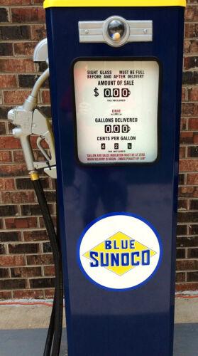 NEW BLUE SUNOCO GAS PUMP ANTIQUE REPRODUCTION REPLICA - FREE SHIPPING*