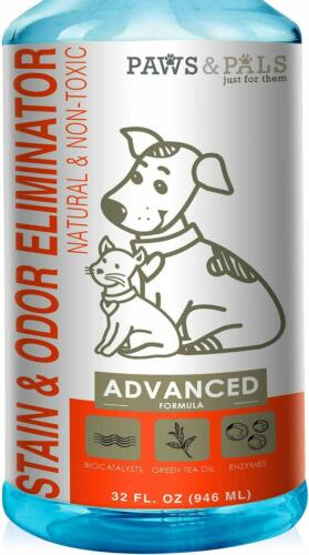 Pet Odor Eliminator & Stain Remover Cat/Dog Urine and Poop Enzyme Cleaner Spray