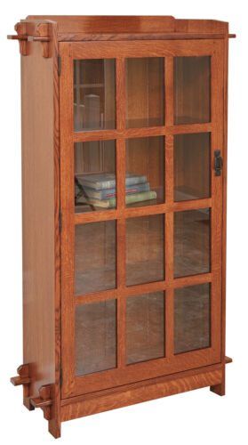 Mission Arts And Crafts   Stickley Style   Single Door Bookcase   Made To Order!