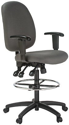 Harwick Ergonomic Grey Fabric Drafting Chair With Free Delivery