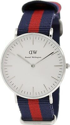 Daniel Wellington Women\s Oxford 0601DW Blue Nylon Quartz Watch