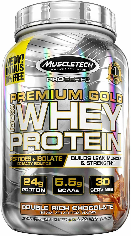 MuscleTech Premium Gold 100% Whey Protein, Premium Whey Prot