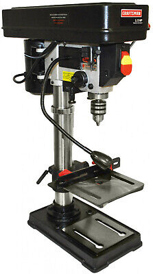 Craftsman Bench Drill Press With Guiding Laser 10 Inch Adjus