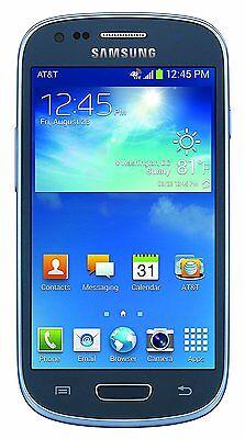 NEW - Samsung Galaxy S3 III Mini AT&T GSM UNLOCKED Smartphone - G730A - Blue 8GB