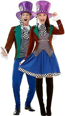 Couples Ladies AND Mens Classy Hatter Halloween Fancy Dress Costumes Outfits](Halloween Outfits Couples)