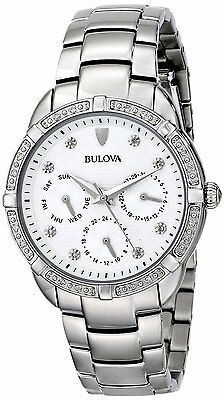 Bulova Diamond Accent Watch (Bulova Women's Maribor Quartz Diamond Accent Markers 36mm Bracelet Watch 96R195)