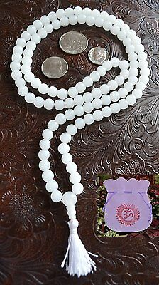 Moonstone 108+1 Handmade Meditation Mala Prayer Beads Necklace - Energized