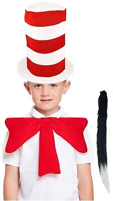 Childs Boys Girls Crazy Cat Dr Seuss Book Day Fun Fancy Dress Costume Outfit Kit (Crazy Doctor Costume)