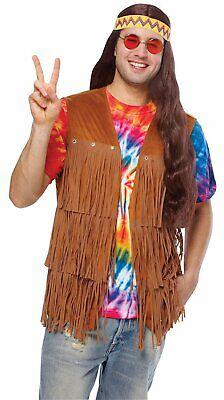Kostüm Culture Hippie Fransen Weste 70s Braun Erwachsene - Hippie Fransen Weste Kostüm