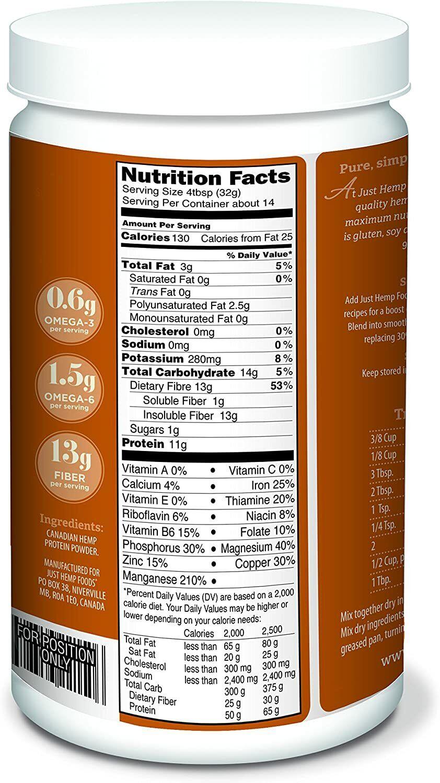 Just Hemp Foods Hemp Protein Powder Plus Fiber Non-GMO 2