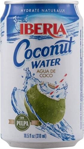Iberia Coconut Water with Pulp, 10.5 oz (Pack of 24)