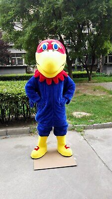 Blue Hawk Mascot Costume Suit Cosplay Party Fancy Dress Outfit Adults Parade](Hawk Costume)