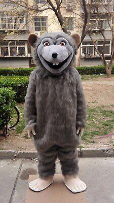 Rat Mouce Mascot Costume Suit Cosplay Party Game Dress Unisex Halloween Adult Us - Halloween Rat Games