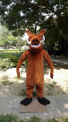 Pumbaa Costume (Pumbaa Mascot Costume Suit Cosplay Party Game Dress Outfit Advertising)