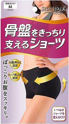 SLIM WALK Pelvis Support Panties Shorts Black M-Size