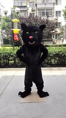 Panther Mascot Costume Suit Cosplay Party Game Dress Outfit Halloween Adult - Panther Mascot Costume