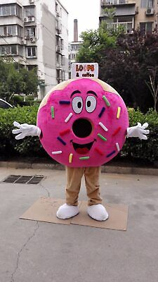 Pancake Halloween Costume (Halloween Pancake Food Donut Mascot Costume Anime Cosplay Mascot Theme Dress)