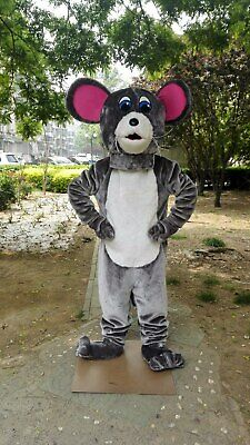 Halloween Adult Rat Mascot Costume Cosplay Party Game Dress Outfit Advertising - Halloween Rat Games