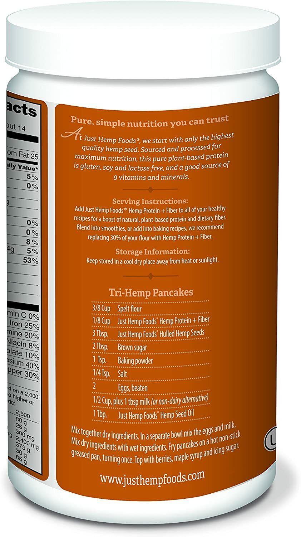 Just Hemp Foods Hemp Protein Powder Plus Fiber Non-GMO 3