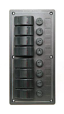 GENSSI LED Rocker Switch Panel 12V 24V Aluminum Waterproof Boat Marine Fuse