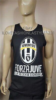 Juventus FC Black Tank Top FORZA JUVE  LA VECCHIA SIGNORA  Soccer Soccer T-shirt Tank Top