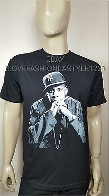 Jay Z Black T Shirt Tee Rocnation  Jay Z Kanye West Concert Tour T Shirt