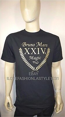Bruno Mars Magic Black  T Shirt Tee  24K Magic Concert  Tour  T Shirt  Xxiv K