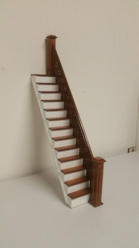 Dollhouse Stairs, Craftsman 1:12 scale straight staircase