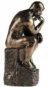 'Deep Thought' The Thinker Bronze Tone Rodin Sculpture by Nemesis Now - 24cm