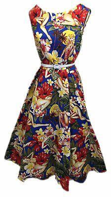Audrey Hepburn 50er Jahre Rockabilly Kleid + Wäsche - 50er Jahre Frauen