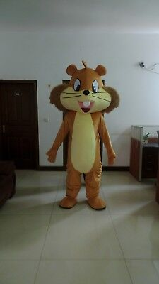 Cute Adult Cartoon Lovely Squirrel Mascot Costume Fancy Dress Gift Free Shipping - Costume Squirrel