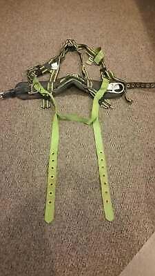 Miller Dalloz Fall Protection Body Harness Belt 6414nhu Universal Size 310 Lbs