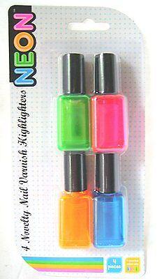 Pack de 4 Neón Subrayadores - ORIGINAL Esmalte de uñas en forma...