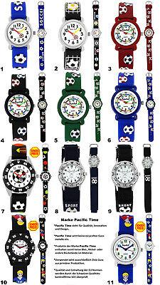Armbanduhren Kinder Jungen Fußball Uhr Kinderuhr Lernuhr Silikon Armband Uhren
