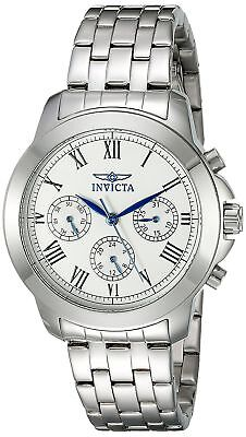 Invicta 21653 Specialty Women's 37mm Chronograph Stainless Steel Silver (Invicta Womens Silver Dial)