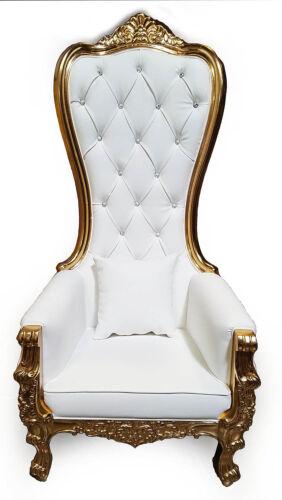 Chair - High Back Chair - Queen High Back Chair  - White Lea