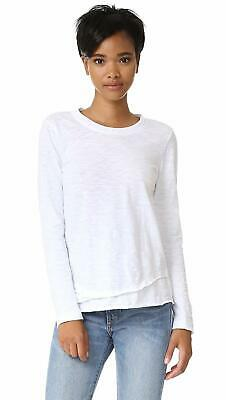 NWT Wilt Womens Cotton Mock Layer Long Sleeve Tee Pullover Top Shirt -