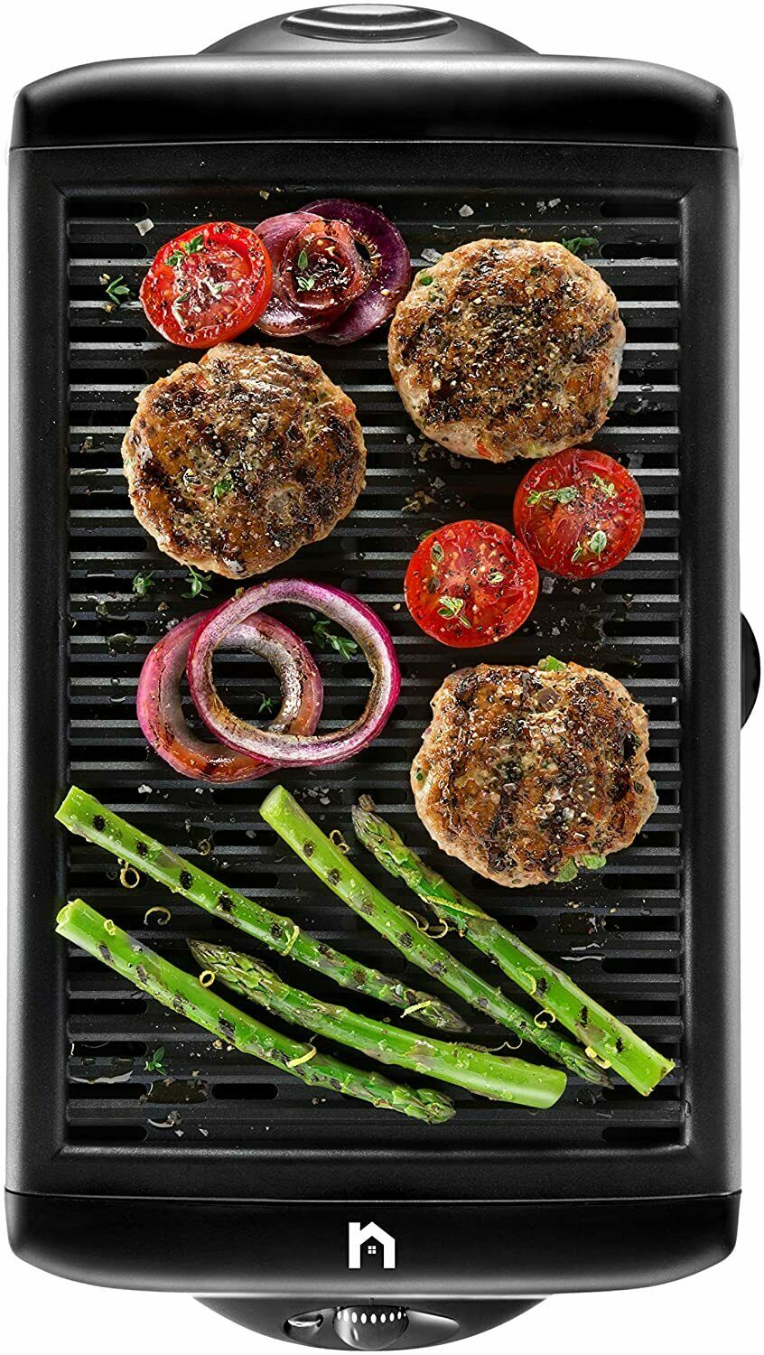 Electric Smokeless Indoor Grill, Large Non-Stick Cooking Sur